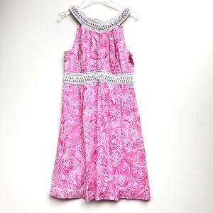 Lilly Pulitzer Crochet Pink Sleeveless Dress 10